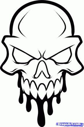 290x441 How To Draw A Skull Head, Skull Head Tattoo, Step