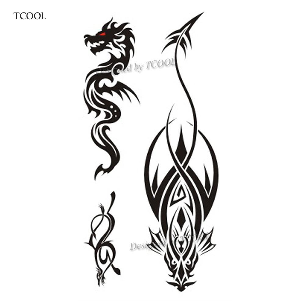 1000x1000 Tcool Dragon Women Temporary Tattoo Sticker Tattoos For Waterproof