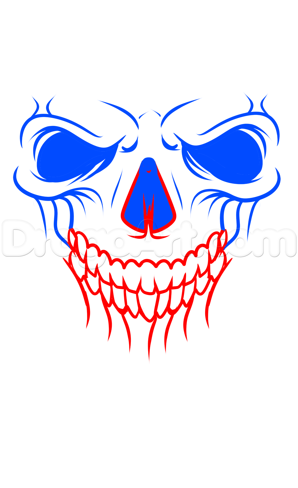 1000x1639 A Skull Tattoo Drawing Tutorial Step Picture Transfers