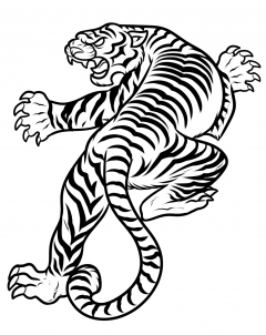 240x302 how to draw a japanese tiger tattoo step body art japanese