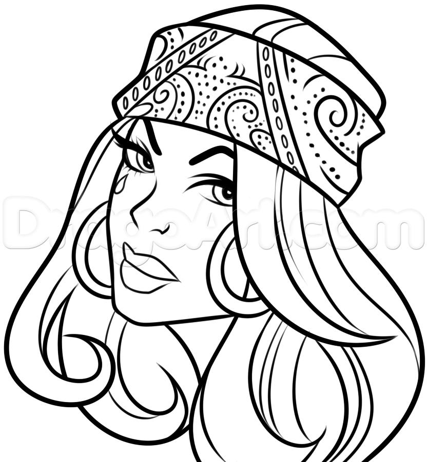 832x902 Chola Tattoo Drawing, Step