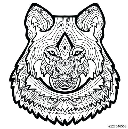 496x500 Coloring Pages Tattoo Coloring Book Wolf Strong Is Drawn