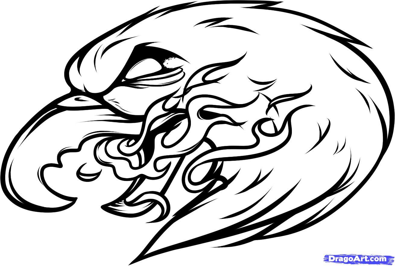1310x882 Eagle With Flame Tattoo Design