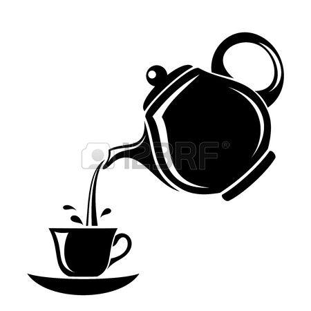 450x450 stock vector cricut tea illustration, tea cup drawing, tea pots