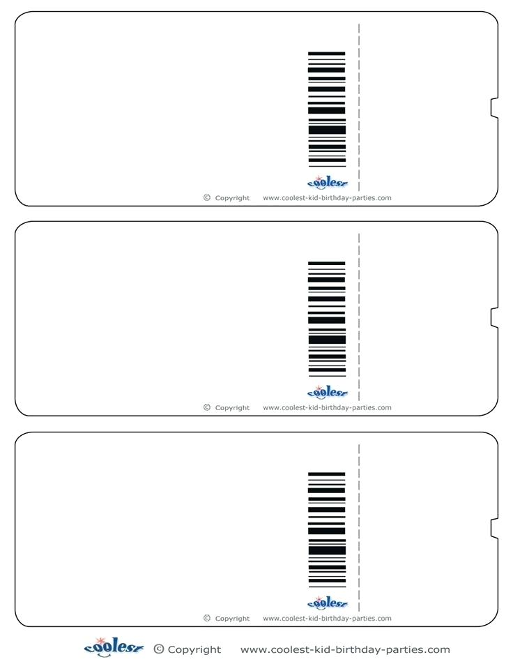 drawing ticket template