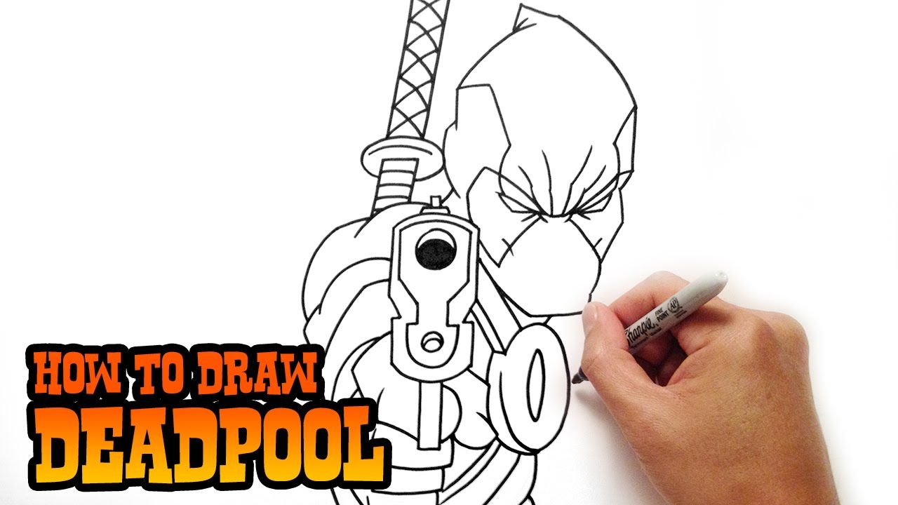 1280x720 Learn How To Draw Deadpool In This Step