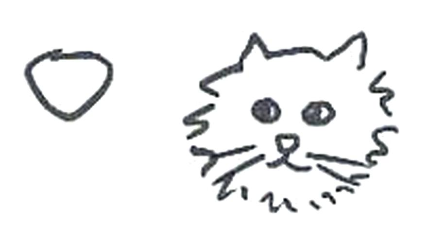 877x500 How To Draw Cat Face How To Draw A Cat Head Easy To Draw Cartoon