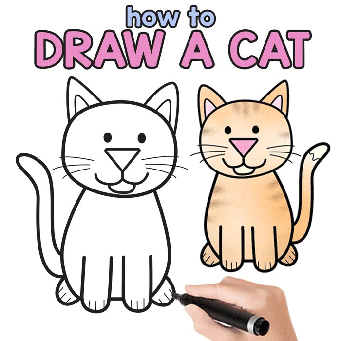 700x700 How To Draw A Cat
