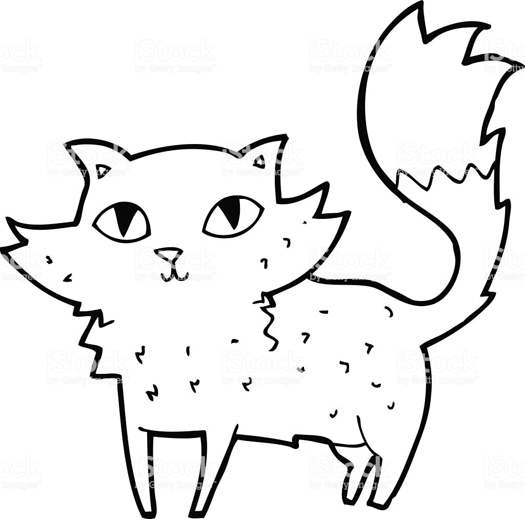 1024x1012 Line Drawing Animal Cat Awesome Grumpy Free Clip Art Christmas
