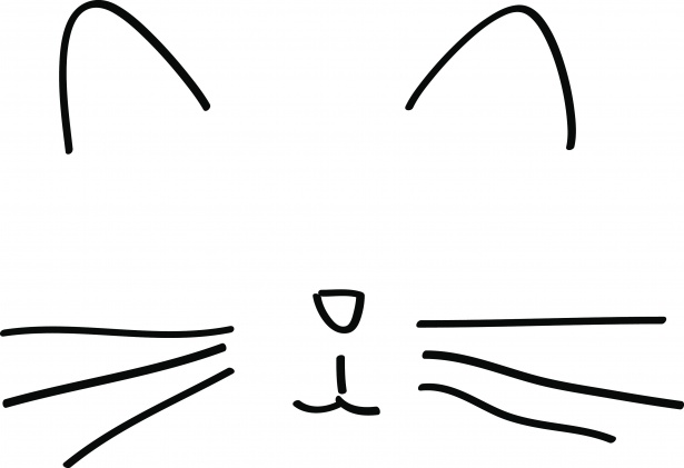 615x421 Minimalist Cat Drawing Free Stock Photo