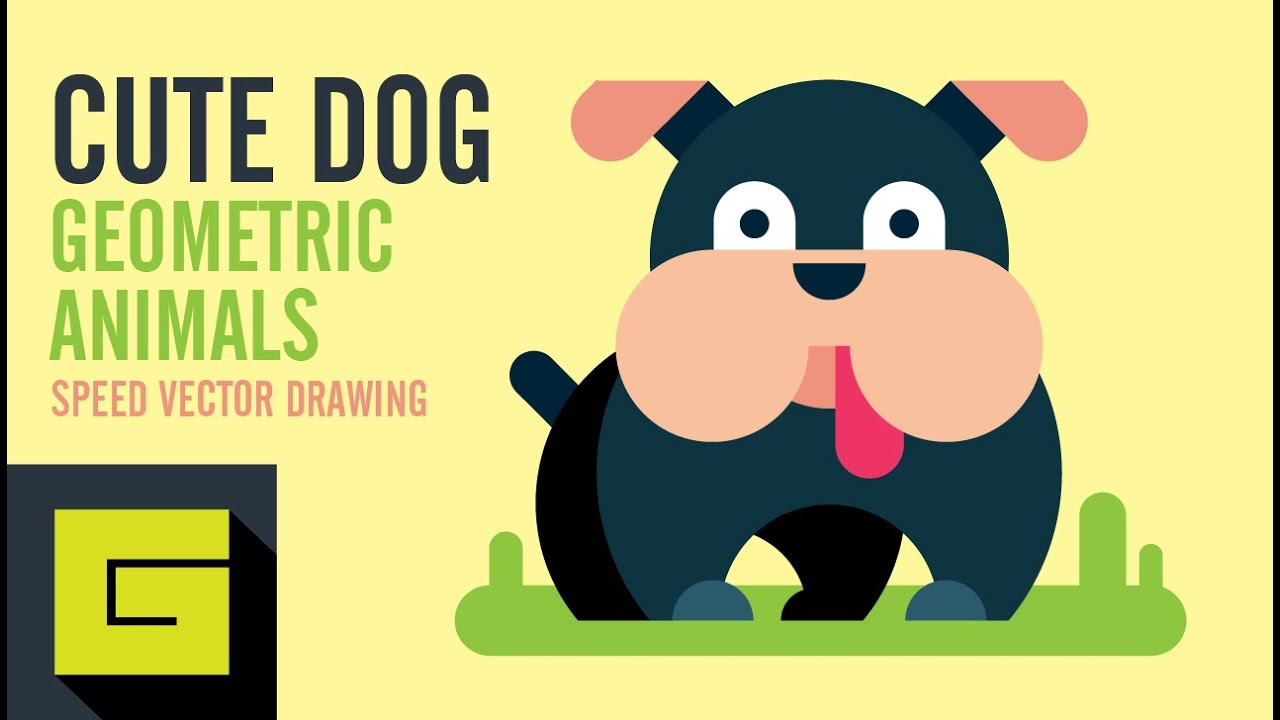 1280x720 How To Draw A Dog, Speed Drawing, Adobe Illustrator Tutorial