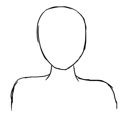 500x500 character drawing template creating a vector anime character