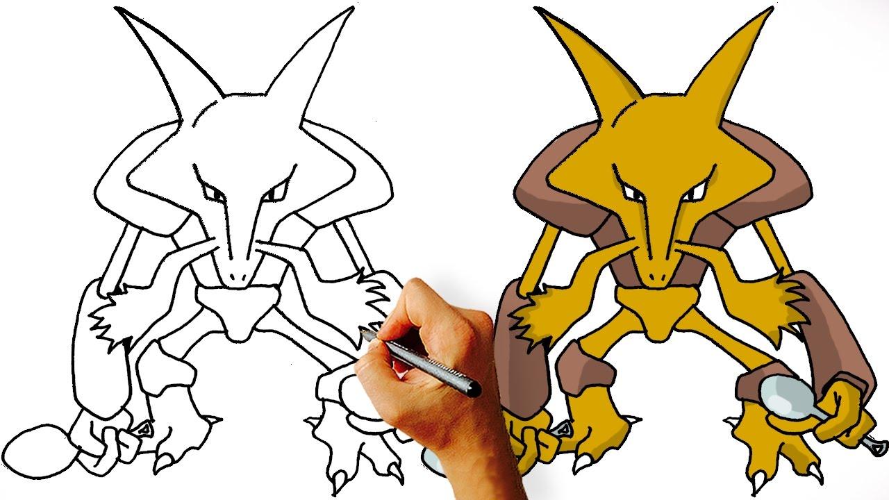 1280x720 How To Draw Alakazam
