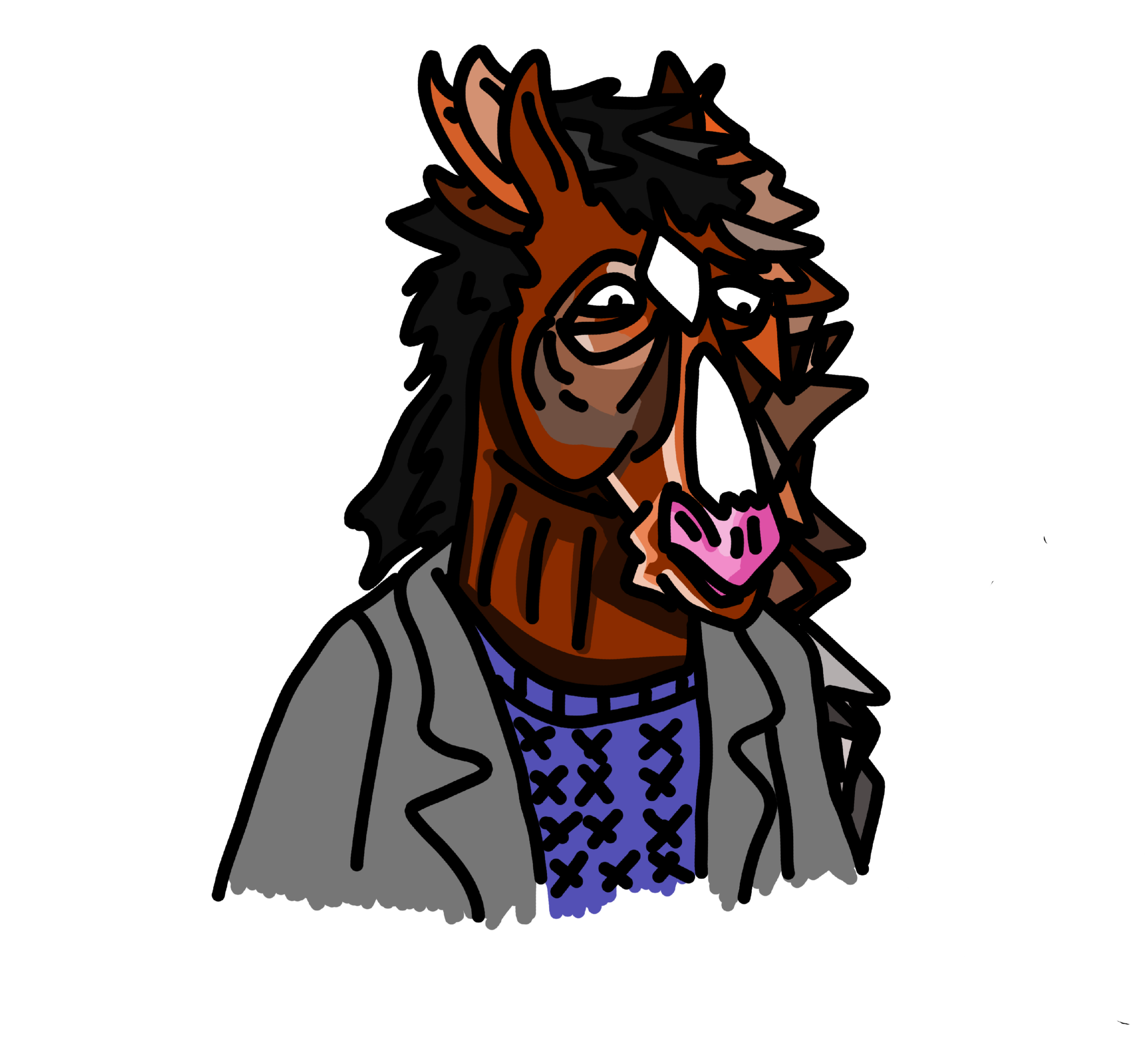3281x2983 A Drawing Of Bojack I Did Today