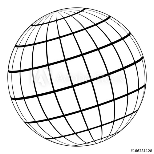 500x500 globe model of the earth or planet, model of the celestial