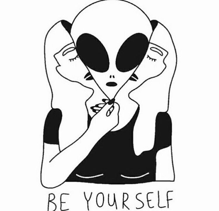 750x723 be yourself c o n c e p t u a l alien drawings, art