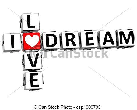 450x361 I Love Dream Crossword On White Background