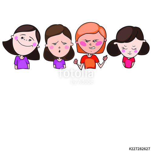 500x500 The Set Includes Color Drawings In The Vector, Images Of Children