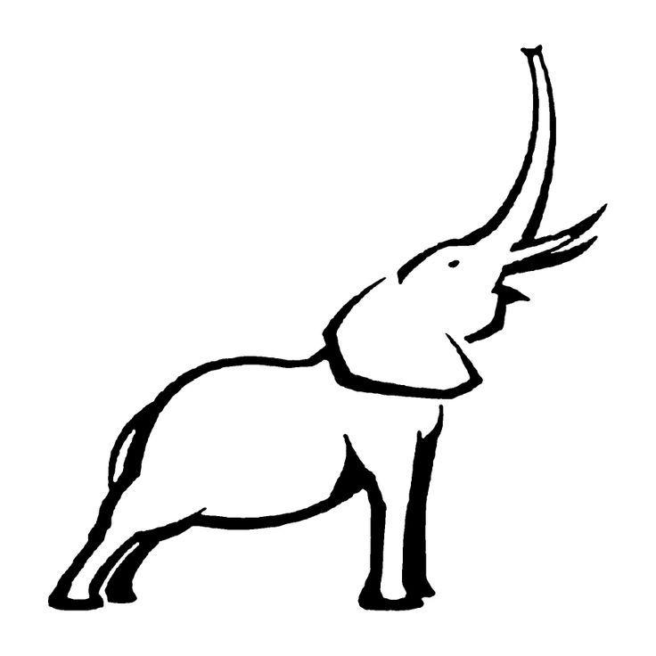 736x736 elephant outline trunk up tattoos elephant tattoos, elephant
