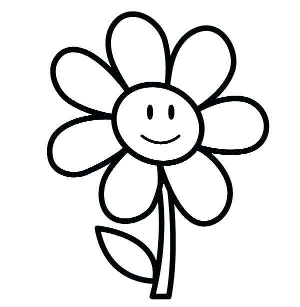 Cartoon Flower Pictures To Color - Flowers Healthy
