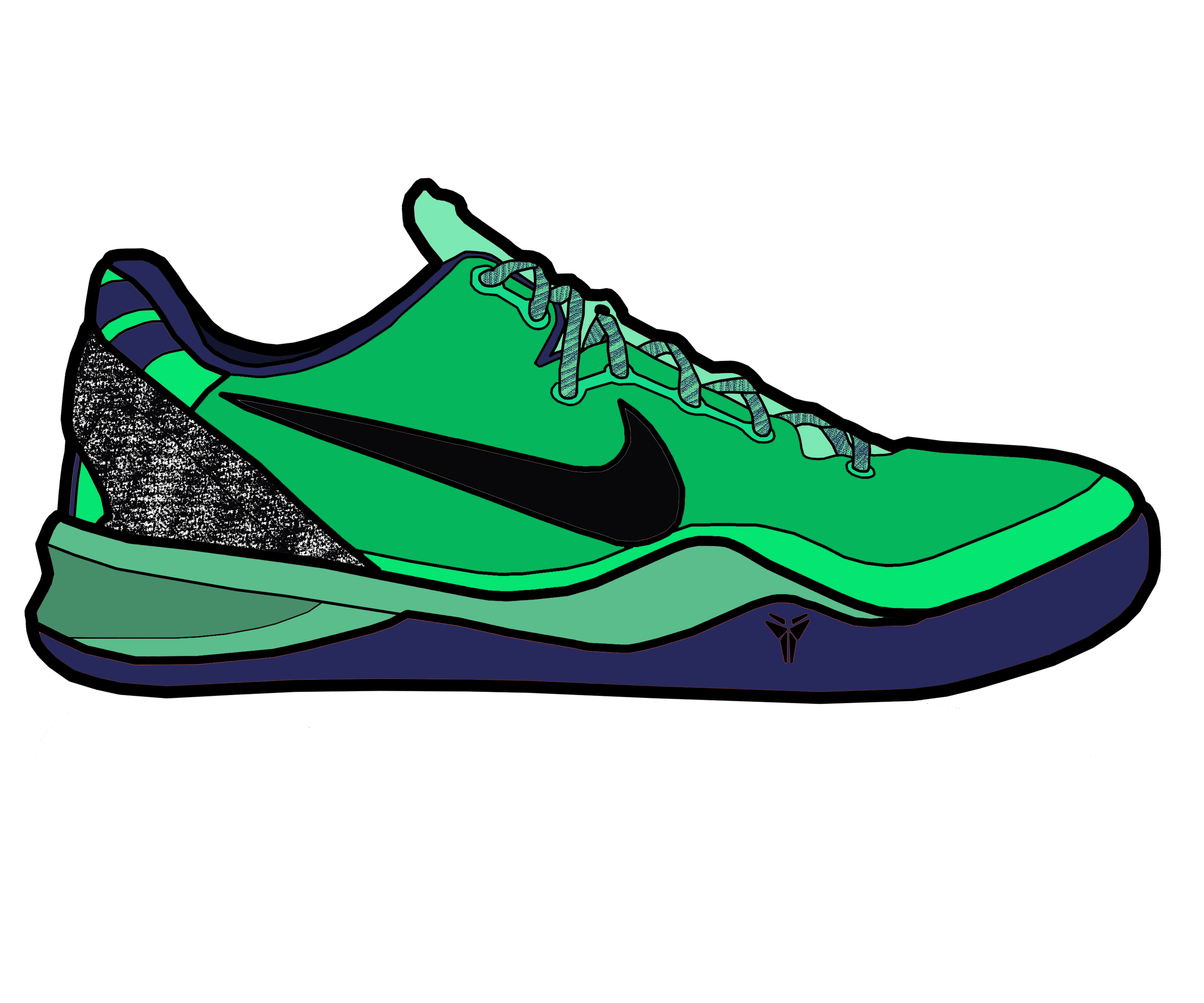 3000x2500 Collection Of Free Nike Drawing Sneaker Download On Ui Ex