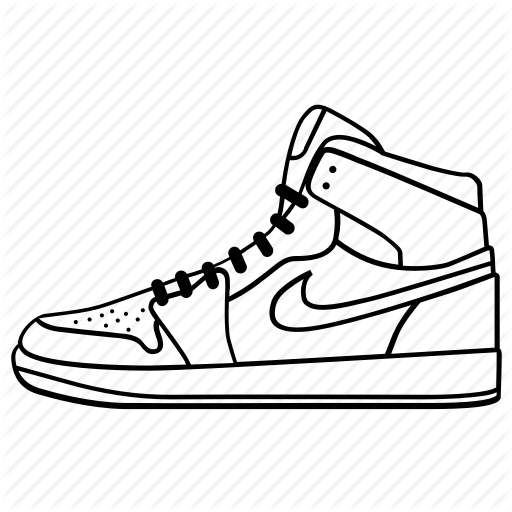 512x512 Collection Of Free Sneaker Drawing Download On Ui Ex