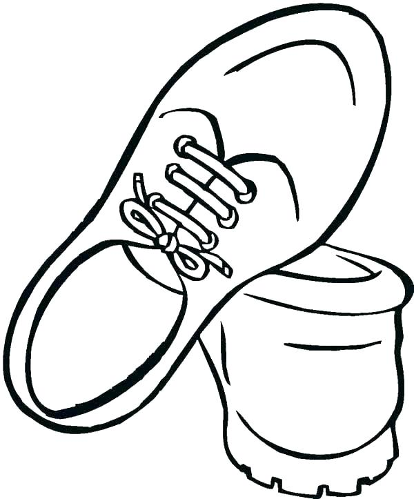 600x723 Coloring Pages Of Shoes Copy Co Kd For Adults Printable Sneakers