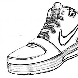 300x300 Gorgeous Coloring Pages Of Kd Shoes Copy Coloring Pages Nike Shoes