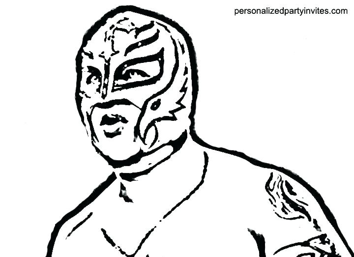 720x523 rey mysterio coloring mask coloring mask coloring pages mask wwe