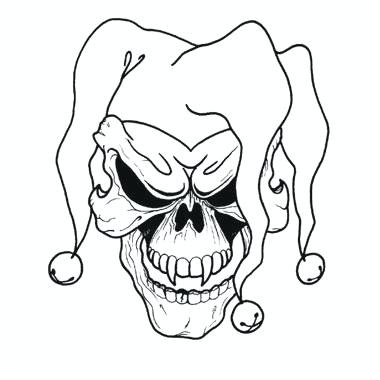 380x380 how to draw an evil clown drawings draw evil clown