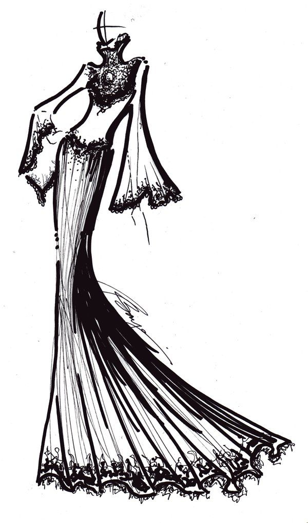 600x1017 Dress Drawing Balance For Free Download