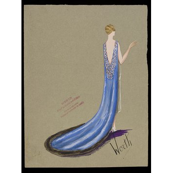 355x355 Fashion Design For A Court Dress And Train Jean Charles Worth