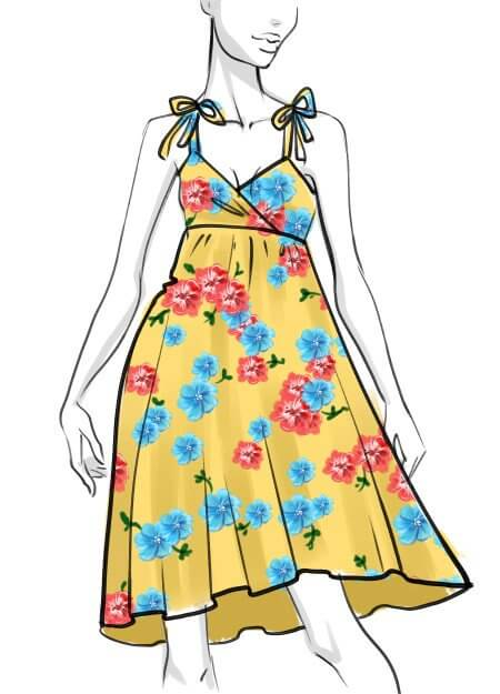 450x625 How To Draw A Summer Dress Step