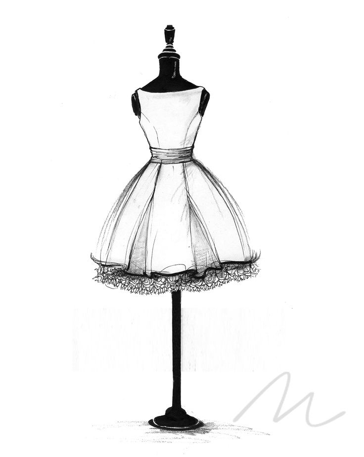 736x923 Blithe Dress Sketch Dress Making Ideas Fashion Design Sketches