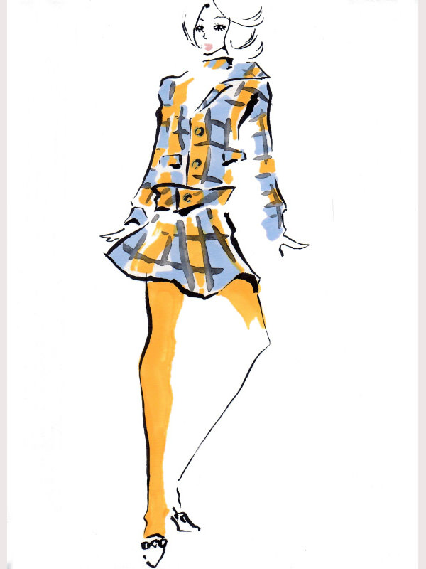 Dress Drawing Template