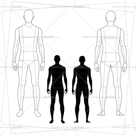 480x480 Male Fashion Croquis Templates Templates For Fashion
