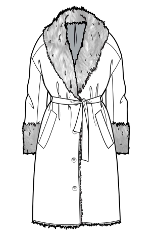 313x469 robe style coat coat fashion sketches, fashion design template