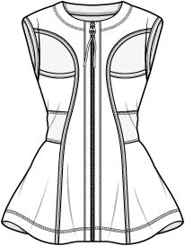 206x274 Best Fashion Technical Drawing Templates Images Fashion