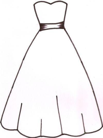 400x538 Wedding Dress Template