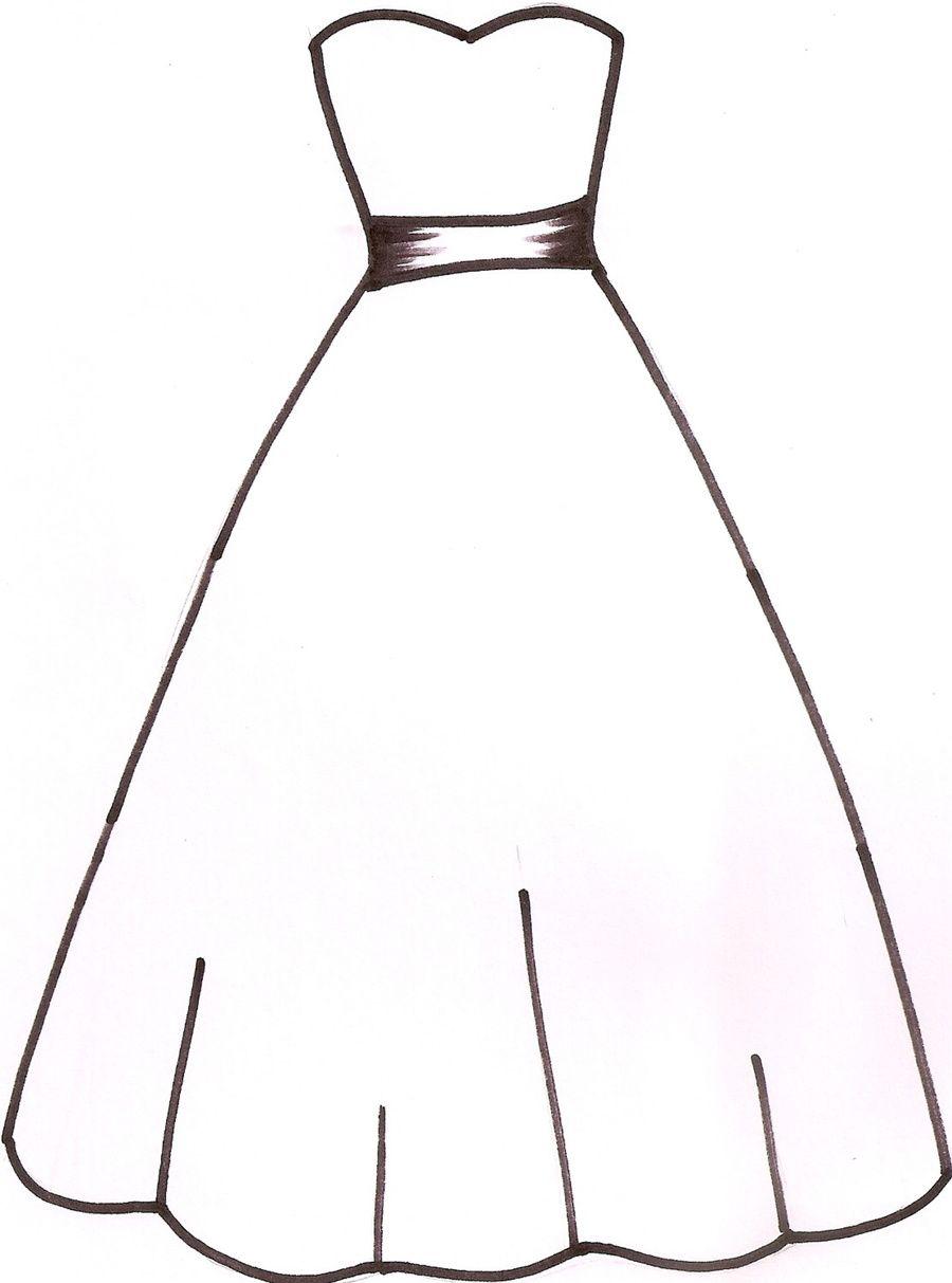 900x1213 Wedding Dress Template I Drew This Template