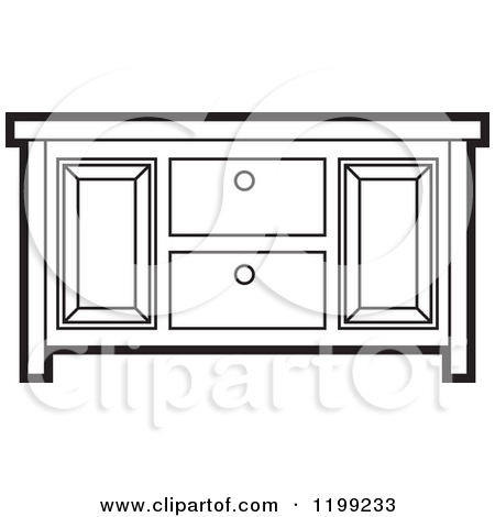 450x470 Dresser With Mirror Clipart