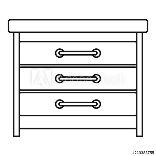 500x500 Dresser Icon Outline Illustration Of Dresser Vector Icon For Web