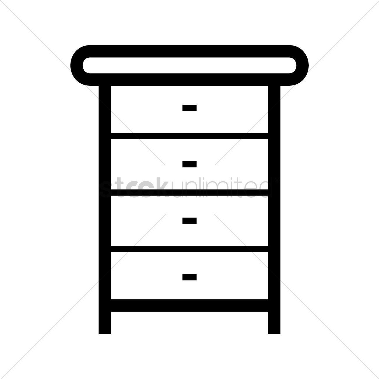 1300x1300 Table Dresser Vector Image