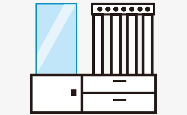 650x401 vector line drawing dresser, line vector, line drawing, vector png