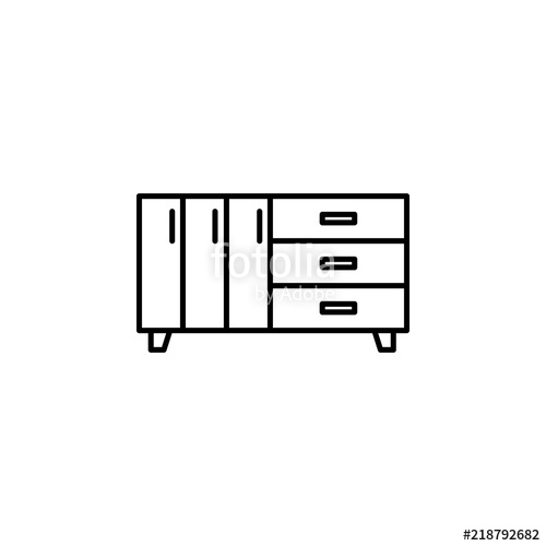 500x500 Dresser Icon Element Of Furniture For Mobile Concept And Web Apps