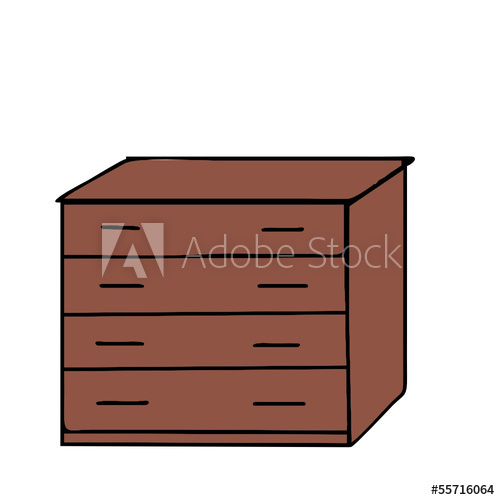 500x500 Vector Drawing Of A Chest Of Drawers