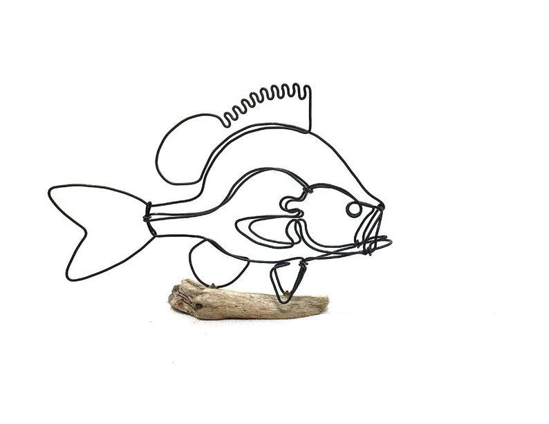 794x614 sunfish wire sculpture fish wire art fish art etsy