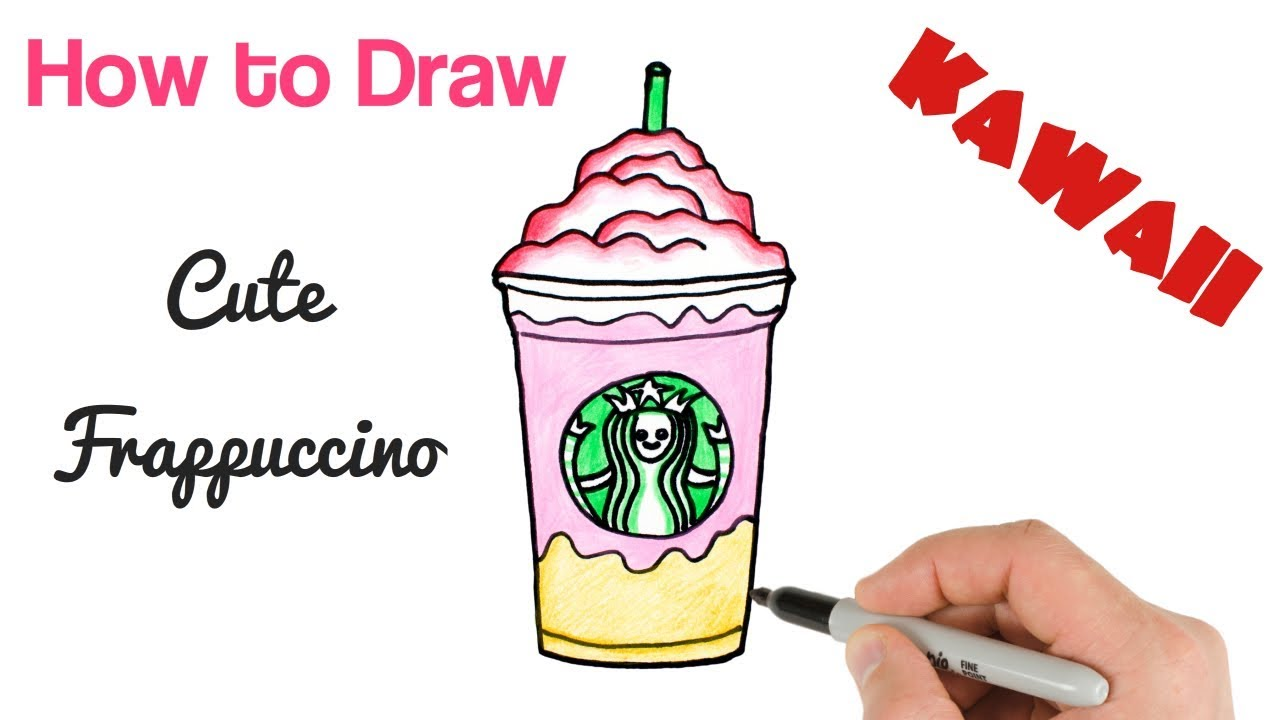 1280x720 How To Draw Starbucks Drink Easy Step