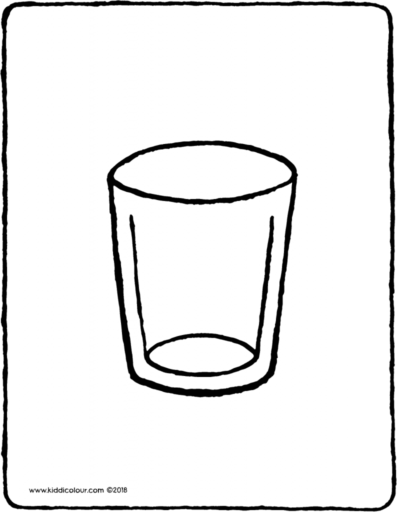 794x1024 Drinks Colouring Pages