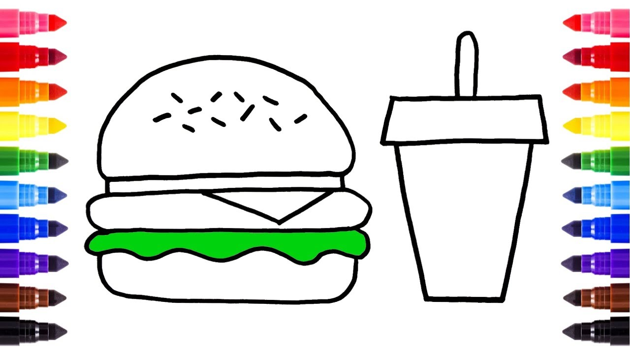 1280x720 Coloring Pages Ofastood Printableresh Cute Surprising Of Fast Food